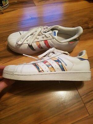 Adidas Originals Superstar Tennis Shoes Sneakers Unique multi color womens 8   eBay