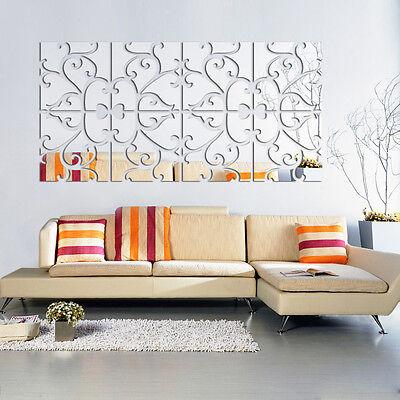 Removable 32pcs 3D Mirror Acrylic Wall Sticker DIY Art Vinyl Decal Home Decor CM