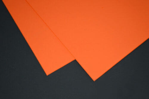"""Safety Orange DIY Sheath Or Holster Material 1 Sheet of 12/""""x12/"""" Kydex P1-080"""