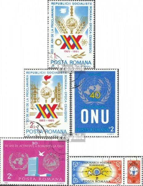 Romania 4169-4170,4200, 4201,4208Zf (complete issue) used 1985