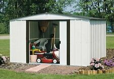 "Arrow Newburgh Galvanized Steel Shed  10' x 8' with 60"" Wall Height With doors"