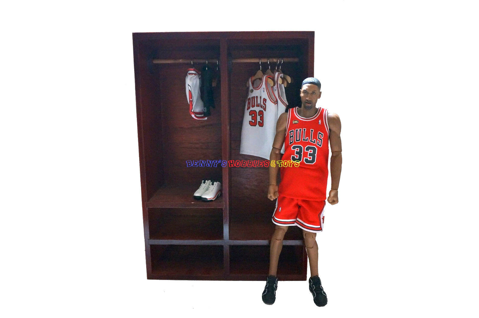 Nuovo Wooden Furniture Jersey Cabinet Wardrobe For 1 6  EnterBay NBA Jordan cifra  outlet in vendita