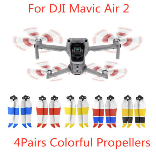 8pcs For DJI Mavic Air2 Quick Release Low Noise Propellers CCW//CW Blades 5Colors