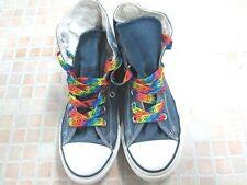 Converse All Star Chucks Hi Top Junior Size UK 2 EU 34 Blue Grade B AA992