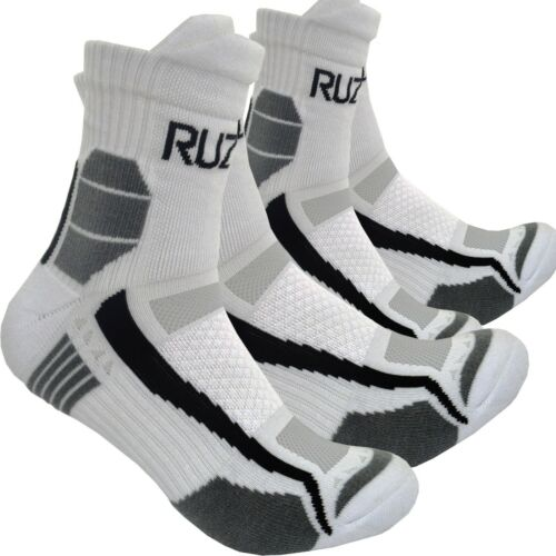 Blanc Technique Sport Étanche Respirant Socquettes Rembourrage Coussin Taille UK 5-7