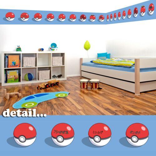 5 Meter Insgesamt Pokémon Pokeball Selbstklebend Dekorative Wand Bordüre