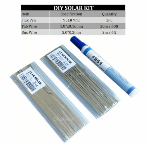 Tabbing Wire Bus Wire Strip Flux Pen Tab Solar Cells DIY Panel Connect Strip