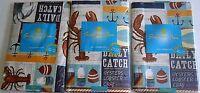 Coastal Vinyl Tablecloths Daily Catch Assorted Sizes