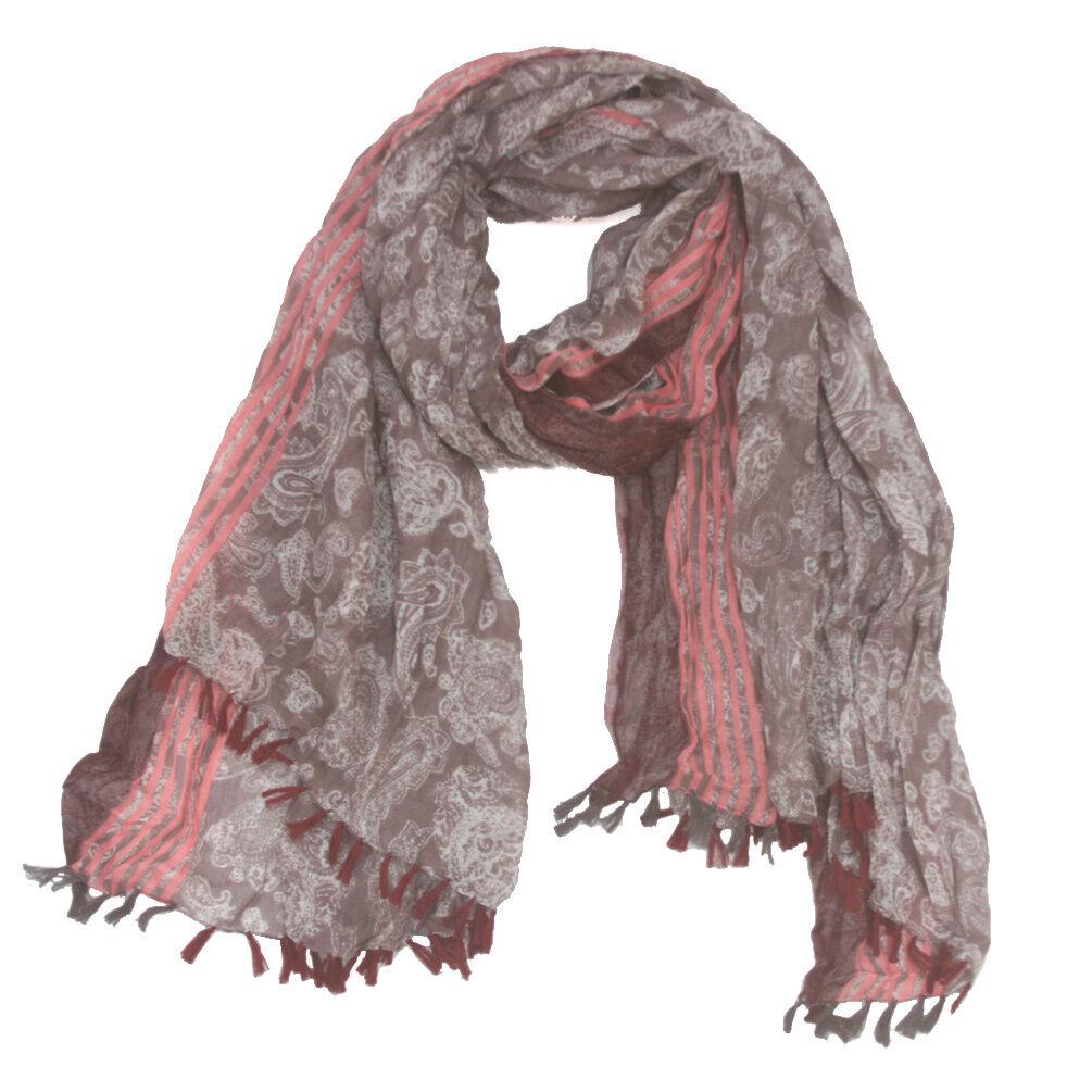 Women's Scarves & Wraps F169 Pastel paisley 100% cotton