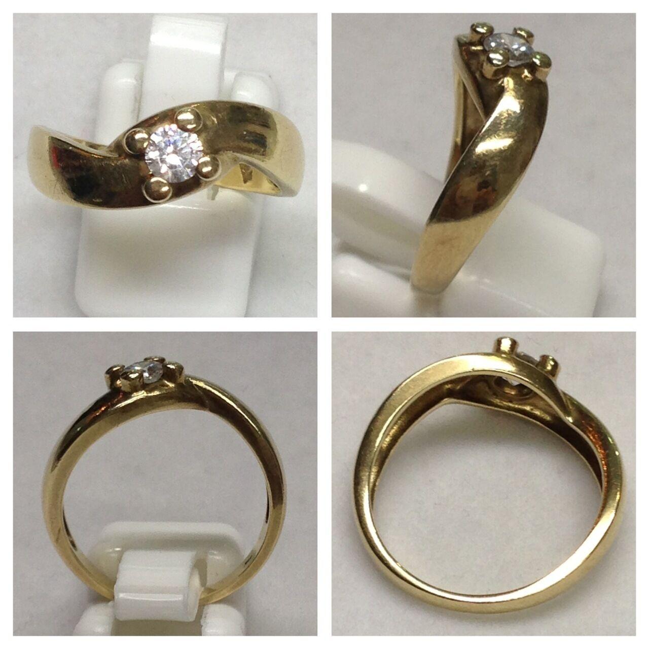 Hermosa Anillo 333 gold Joya De gold Anillo de gold Con Circonia 56 (17,8 mm Ø )