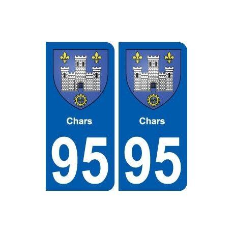 95 Chars blason autocollant plaque stickers ville droits