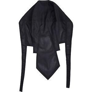 Plain-Noir-Bandana-Motard-Durag-Pirate-Fancy-Dress-Cyclisme-Catering-Chef-Hat-Cap