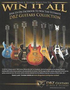 Dean B. Zelinsky DBZ Guitars Collection ad 8 x 11 guitar advertisement print