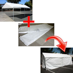 Add On Canopy Garage Side Wall Kit 4 10 X20 Tent Parking