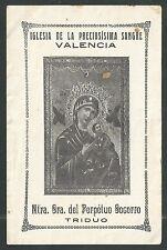 Novena antigua Virgen del Perpetuo Socorro andachtsbild santino holy card