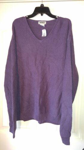 Nwt Pourpre XL Taille L Pull Longues Vintage lBean Violet à Manches rxhQtsBdC
