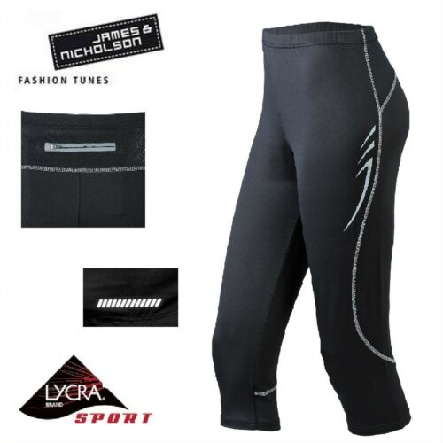 Weitere Sportarten Nordic Walking JAMES & NICHOLSON LADIES 3/4 RUNNING TIGHTS  DAMEN 3/4 LAUFHOSE  NORDIC WALKING