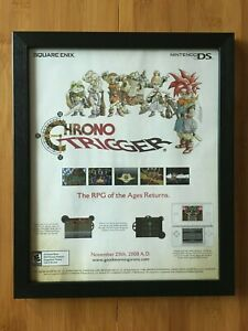 Chrono Trigger DS Framed Print Ad/Poster Authentic Official RPG Video Game Art