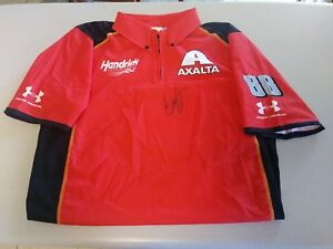 Dale-Earnhardt-Jr-Signed-Autographed-Team-Issued-Axalta-Crew-Shirt-JSA-COA