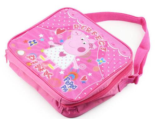 PEPPA PIG INSULATED LUNCH BAG BOX WITH PLASTIC WATER BOTTLE /& CONTAINER PINK
