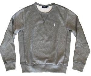 Crewneck About Fleece Ralph Icon Gray Sweatshirt Sleeves Lauren Polo Pony Details Long trsQChd