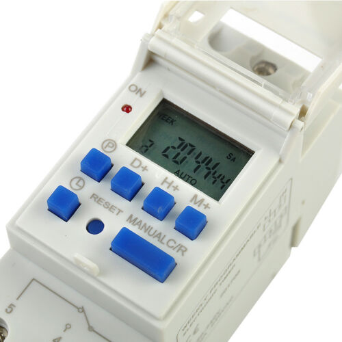 DIN Rail Time Relay Switch Digital LCD Power Programmable Timer AC 220V 16A TP9