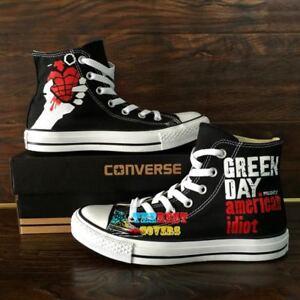 GREEN DAY hand painted shoes zapatos pintados scarpe dipinte a mano ... a26c107db