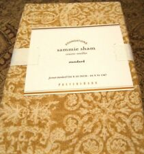 Pottery Barn Sammie Tile Wheat Paisley Standard Pillow Sham 20x26