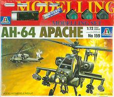 AH-64 Apache 1:72 Italeri Modelling Set 159 inkl Farben Kleber Pinsel Helicopter