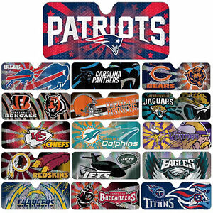 0fe52406 Details about All NFL Teams Licensed 1pc Sun Shade Reflective Sunshade  Accordio Fold Universal