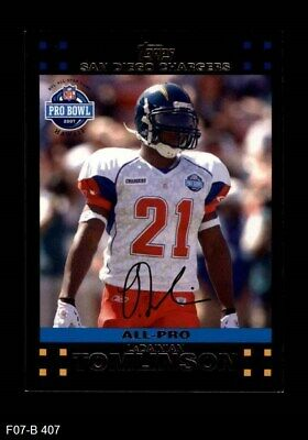 size 40 b8376 a73cb 2007 Topps #407 LaDainian Tomlinson - Pro Bowl Chargers NM/MT | eBay