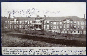 Soldiers-Home-Marshall-Cancel-1908-Railway-post-Office-Stamp-Postcard-A3856
