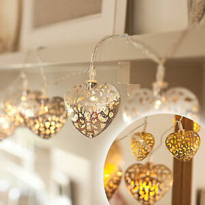 10-Gold-or-Silver-Filigree-Metal-Heart-Battery-Operated-LED-Fairy-Lights