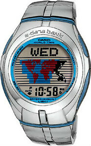 Casio e data bank stainless steel men 039 s watch edb 110d 1v