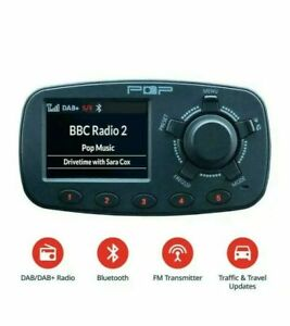 "In-Car DAB Digital FM Radio Adapter Bluetooth, Handsfree Calling Kit USB"""""