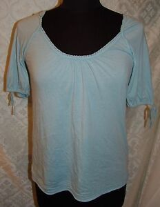 American-Eagle-Outfitters-Top-Talla-S-Azul-Bebe-Blusa-Suave-AE