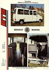 ETS Renault Master Car Mixte 1988 catalogue brochure francais