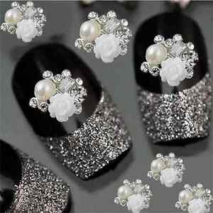 10Pcs-3D-Rhinestone-Alloy-Jewelry-Rose-Charm-DIY-Decoration-Tips-Nail-Art-Decor