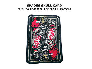 ACE-of-SPADES-EMBROIDERED-PATCH-SKULL-DEATH-GRIM-REAPER-IRON-ON-VIETNAM-WAR-new
