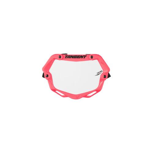 Tangent ventril 3D petit nombre plaque rose fluo blanc avec insert