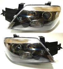 Mitsubishi Outlander 2003-2006 Frontal cabeza lámparas luces izquierda + derecha un conjunto Negro
