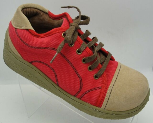 MaRe MaRe Daily Market Koshien Lace up Red/Tan Sneaker Shoe Sz L