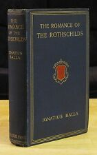 The Romance of the Rothschilds (1913) Ignatius Balla, Origins of Family, Banking