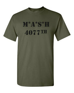 17ab5f51 M*A*S*H 4077th T-Shirt CLASSIC Funny Party Vintage TV USA Army Tee ...