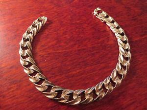 Top-900-Silber-Armband-Jugendstil-Art-Deco-Modern-Glieder-Vintage-Herren-22-cm
