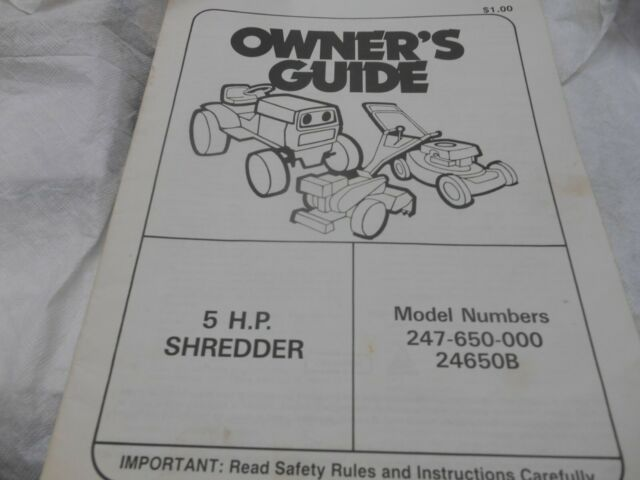Chipper Shredder Model 247 79594