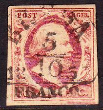 NVPH 1 WILLEM 3 BREDA-B LuXe gerand Gebruikt Cataloguswaarde 35,00 +EY50  E-2313