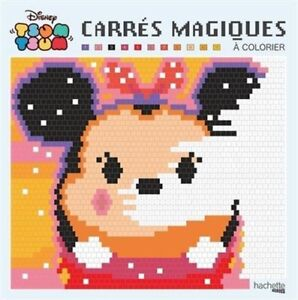 Details About Disney Tsum Tsum Pixel Art Adult Colouring Book By Numbers Mystery Cute French