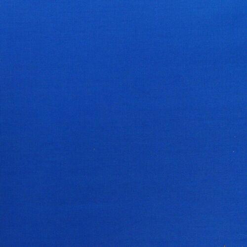 Kreativstoff Baumwollstoff Fahnentuch einfarbig königsblau 1,45m Breite