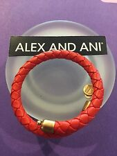 Alex and Ani Braided Leather Bracelet